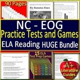 EOG Test Prep NC READY ELA Reading Practice Tests and Games HUGE Bundle