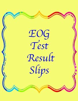 EOG Test Result Slips
