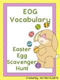 EOG Vocabulary Easter Egg Scavenger Hunt (with QR codes to check)