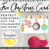 Christmas Gift EOS Ornament Printable Gift Tag Free Bundle (4 Different Layouts)