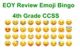 EOY 4th Grade Review Bingo