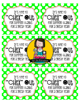 EOY Gift Tag | Chex Out