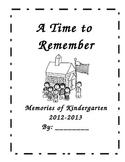 EOY Kindergarten Memory Book