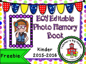 EOY Photo Memory Book - Editable