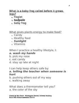EOY Science Assessment