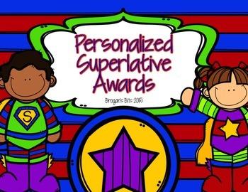 EOY Superlative Awards {Superhero Customizable Superlative