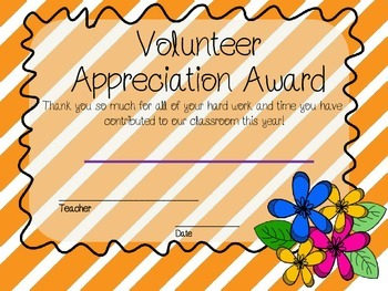 EOY Superlatives & Volunteer Certificates