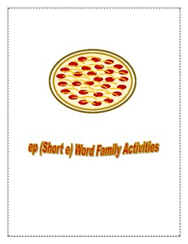 EP SHORT E WORD FAMILY ACTIVITIES