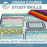 Crash Course Study Skills Visual Note-taking Worksheet Episode 10 Exercise