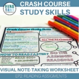 Crash Course Study Skills Visual Note-taking Worksheet EP2: Reading Assignments