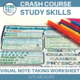 Crash Course Study Skills Visual Note-taking Worksheet Ep 3: Memory