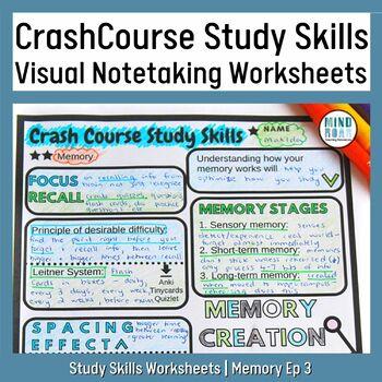 Crash Course Study Skills Visual Note-taking Worksheet Ep 3: Memory