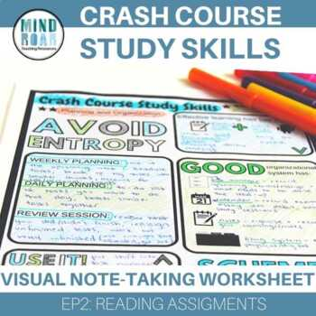 Crash Course Study Skills Visual Note-taking Worksheet Ep 4: Planning and . . .