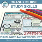 Crash Course Study Skills Visual Note-taking Episode 5 Focus and Concentration