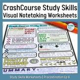 EP6 Procrastination Crash Course Study Skills Doodle Notes-Style Worksheet