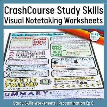 Crash Course Study Skills Visual Note-taking Episode 6 Procrastination