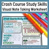 Crash Course Study Skills Visual Note-taking Worksheet Ep