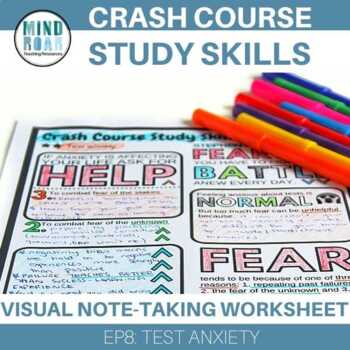 Crash Course Study Skills Visual Note-taking Episode 8 Test Anxiety