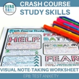 EP8 Test Anxiety Crash Course Study Skills Doodle Notes-St