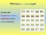 EPIC ANCIENT EGYPT - Hieroglyphics, background, samples & more - 25 fun slides