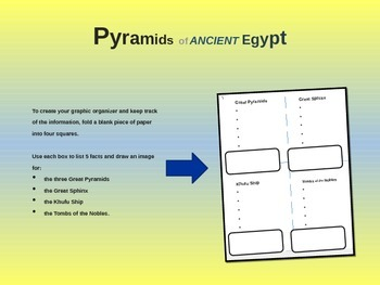 EPIC ANCIENT EGYPT - Pyramids, Sphinx & More - 25 engaging slides w handouts
