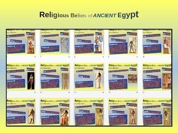 EPIC ANCIENT EGYPT - Religious beliefs & deities - 20 engaging slides w handouts