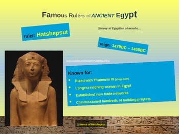 EPIC ANCIENT EGYPT - Rulers - 27 fun, engaging slides with handouts