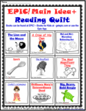 EPIC! Main Idea+ Reading Strategy Quilt With Graphic Organizers