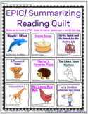 EPIC! Summarizing Reading Strategy Quilt With Graphic Organizers