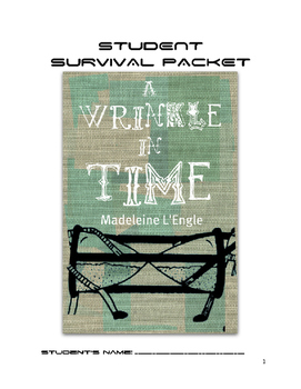 EPIC Wrinkle In Time Survival Packet
