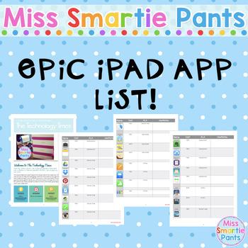 EPIC iPad App List!