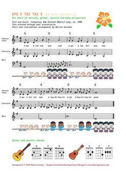 EPO E TAI TAI E. Musical partition for choir SATB and audio files for practising