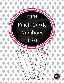 Every Pupil Response  Pinch Cards for Numbers 1-20