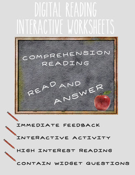 EPub Reading Comprehension Worksheet