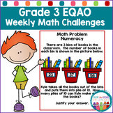 EQAO Grade 3 Weekly Math Challenges