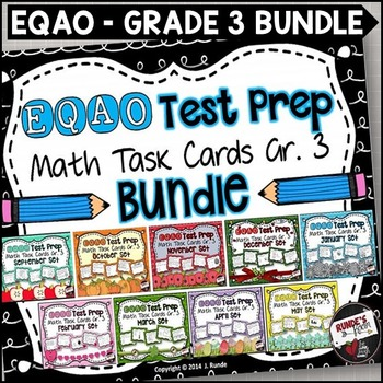 EQAO Math Task Cards - Grade 3 - Bundle