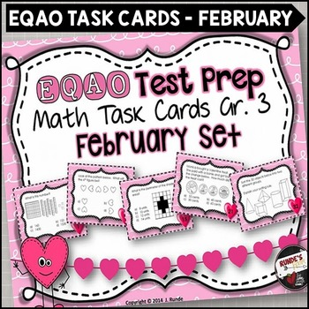 EQAO Math Task Cards - Grade 3 - February Set