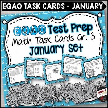 EQAO Math Task Cards - Grade 3 - January Set