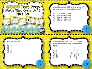 EQAO Math Task Cards - Grade 3 - May Set