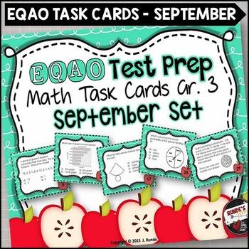 EQAO Math Task Cards - Grade 3 - September Set