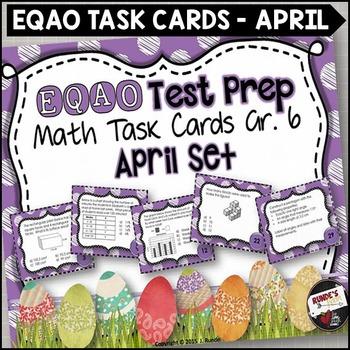 EQAO Math Task Cards - Grade 6 - April Set