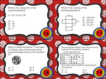 EQAO Math Task Cards - Grade 6 - Bundle