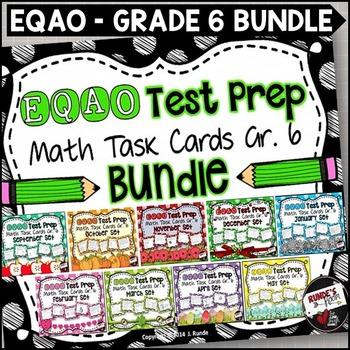 EQAO Math Task Cards - Grade 6 - Bundle