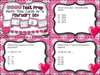 EQAO Math Task Cards - Grade 6 - February Set