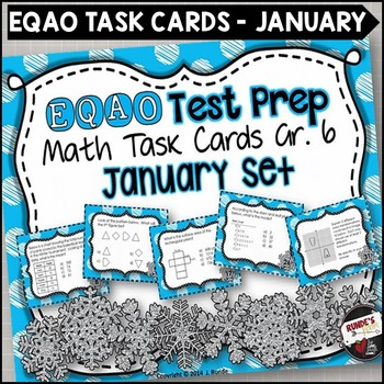 EQAO Math Task Cards - Grade 6 - January Set