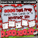 EQAO Math Task Cards - Grade 6 - November Set