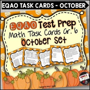 EQAO Math Task Cards - Grade 6 - October Set