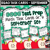 EQAO Math Task Cards - Grade 6 - September Set
