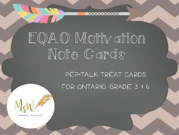 EQAO Motivation Note Cards