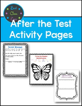 Test Prep: EQAO  I'm finished activity pages